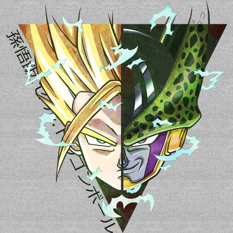 dragonball, gohan, cell, fight, anime, manga, dbz, sayan,