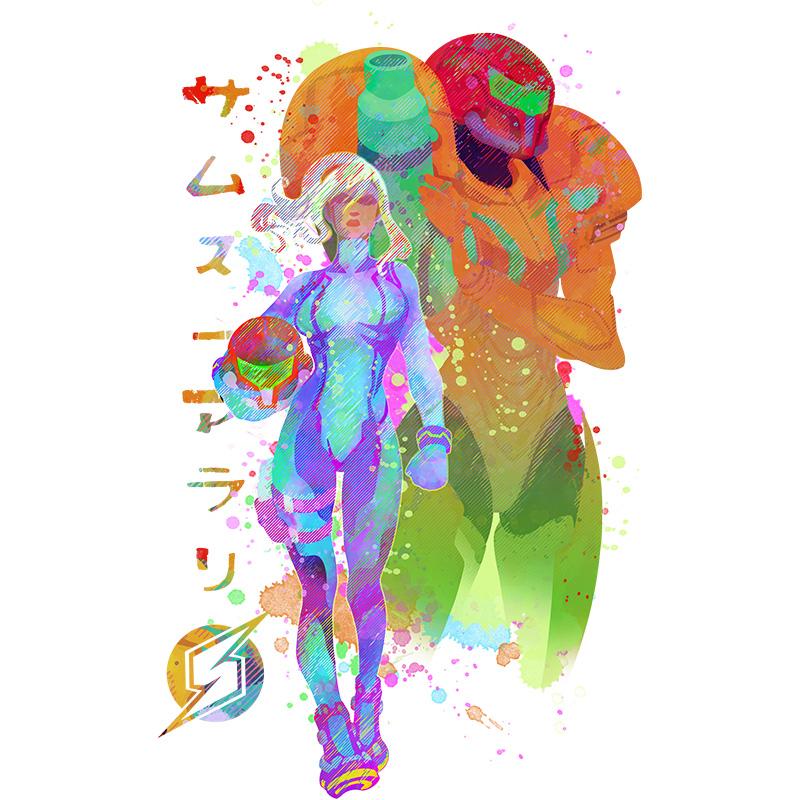 nintendo,metroid,gameboy,retrogaming,play,game, geek, otaku, tshirt, tshirtdesign, tshirtprint, tshirtslovers, teepublic, tostadora, neatoshop, artwork, fanart, photoshop, illustration