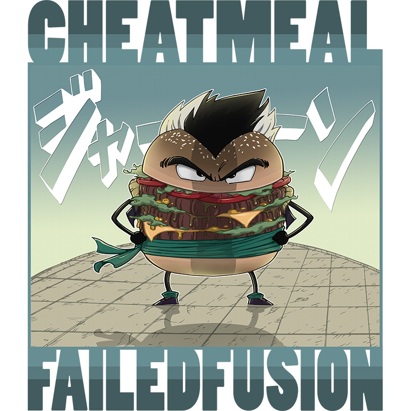 dragonball, dbz, fusion, cheatmeal, burger, gotenks, anime, mangas, fat, fun, cheese, steak, tshirt, tshirtdesign, tshirtprint, tshirtslovers, artwork, fanart, otakudezain