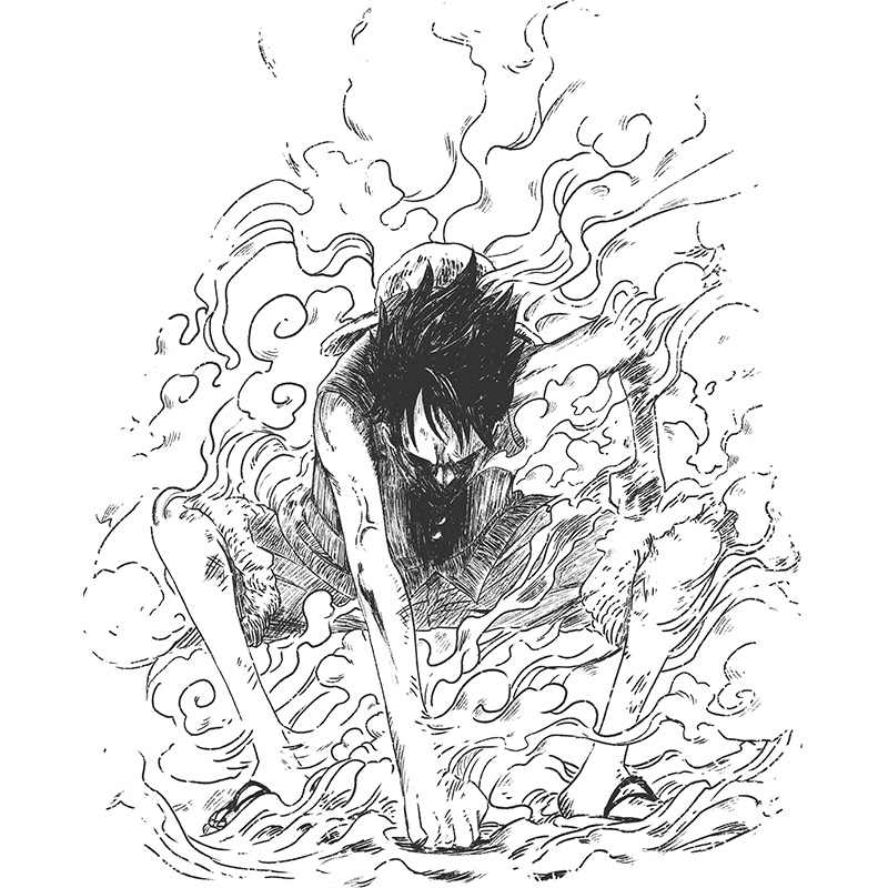 onepiece, luffy gear, smoke, anime, manga, pirates, strawhat, fight, up, battle, adventure, shonen, tshirt, tshirtdesign, tshirtprint, tshirtslovers, artwork, fanart, otakudezain