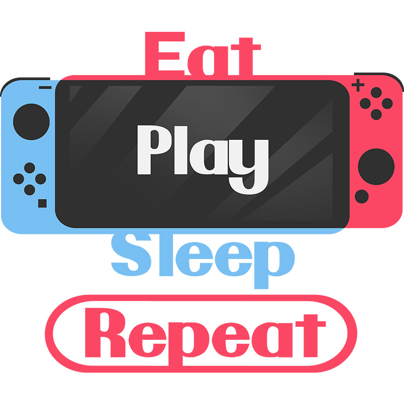 switch, gamer console, gaming geek, play, repeat, routine, tshirt, tshirtdesign, tshirtprint, tshirtslovers, artwork, fanart, otakudezain