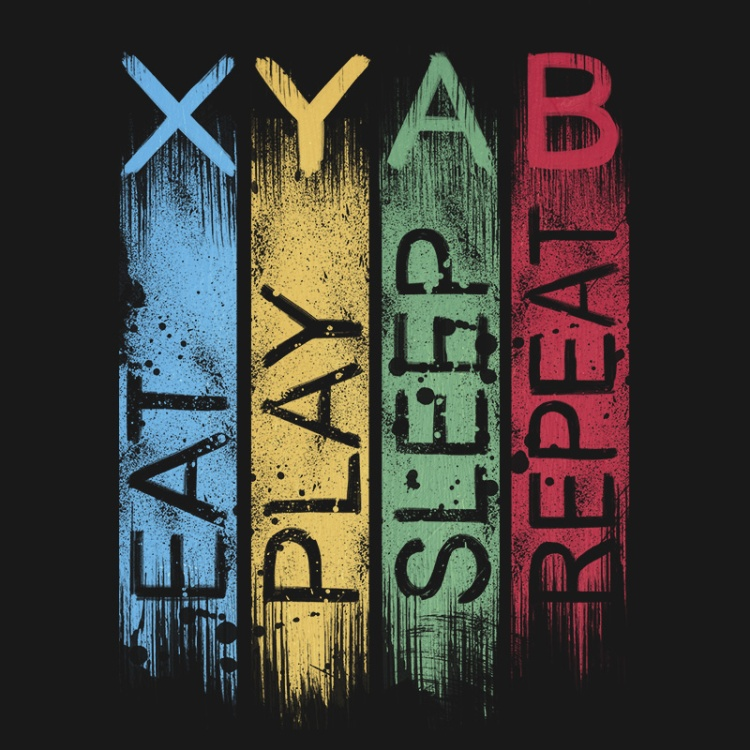xbox gamer, console, gaming geek, play, repeat, routine, tshirt, tshirtdesign, tshirtprint, tshirtslovers, artwork, fanart, otakudezain