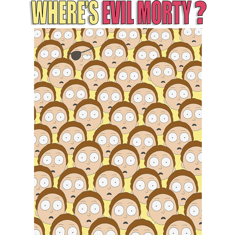 morty, rickandmorty, adultswim, find, where, cartoon, evil, clones, tshirt, tshirtdesign, tshirtprint, tshirtslovers, artwork, fanart, otakudezain