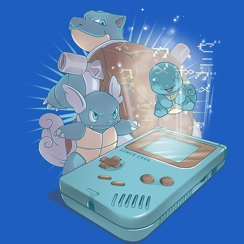 pokemon, blue, water, gameboy, retrogamer, nintendo, gamers, oldschool, tshirt, tshirtdesign, tshirtprint, tshirtslovers, artwork, fanart