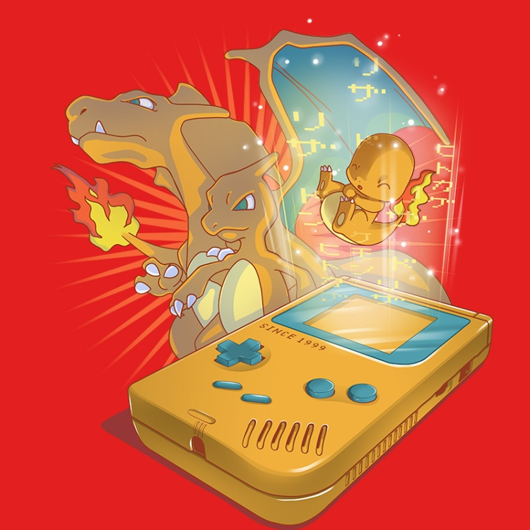 pokemon, red, fire, gameboy, retrogamer, nintendo, gamers, oldschool, tshirt, tshirtdesign, tshirtprint, tshirtslovers, artwork, fanart