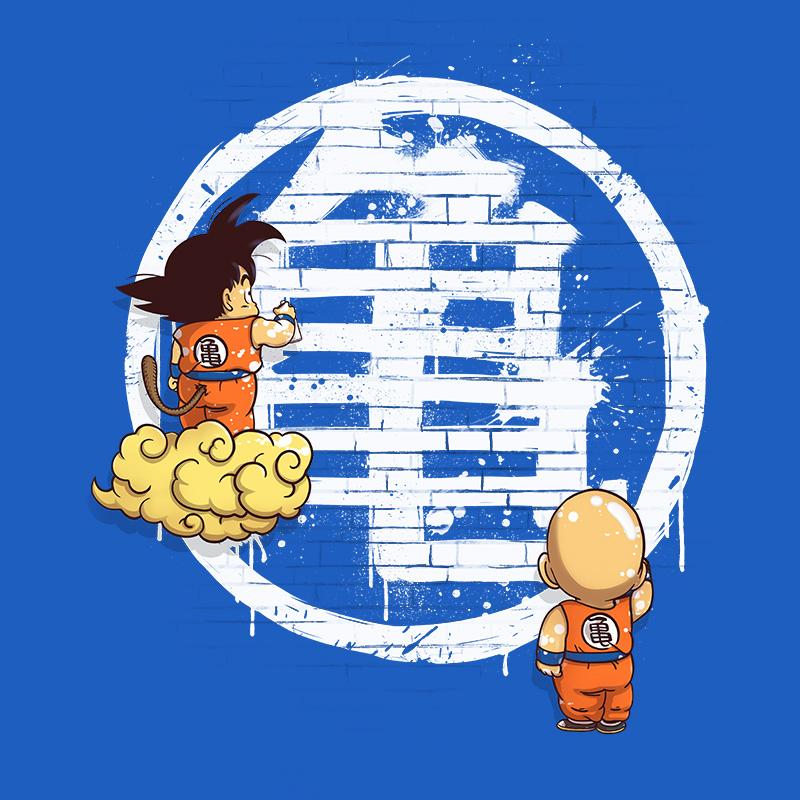 dragonball, songoku, krilin kame, anime, mangas, dbz, wall, tshirt, tshirtdesign, tshirtprint, tshirtslovers, artwork, fanart