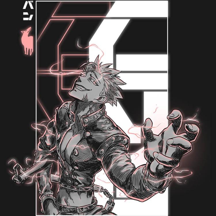 sevendeadlysins, ban, fox, avarice, mangas, shonen, anime, seven, tshirt, tshirtdesign, tshirtprint, tshirtslovers, artwork, fanart