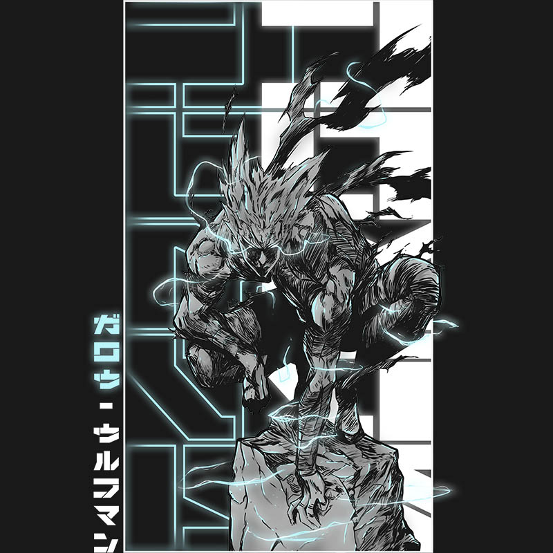 onepunchman, garou, anime, mangas, shonen, monster, werewolf, lightning, tshirt, tshirtdesign, tshirtprint, tshirtslovers, artwork, fanart
